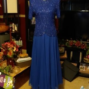 A gorgeous beaded formal gown.